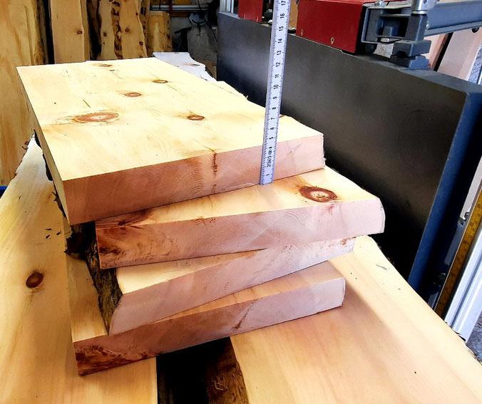 Zirbenholz Bohlen zum Schnitzen Drechseln und Basteln