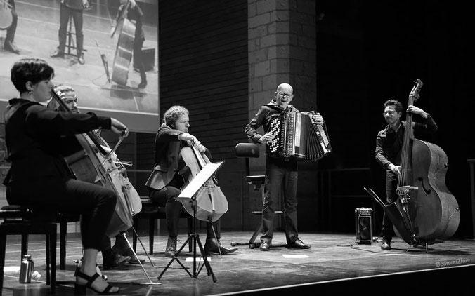 Daniel Mille QuintetBeauvais, jon Pitre, Beauvaizine, festival violoncelle beauvais, Grégoire Korniluk, piazzolla, maladrerie saint lazare, Oise
