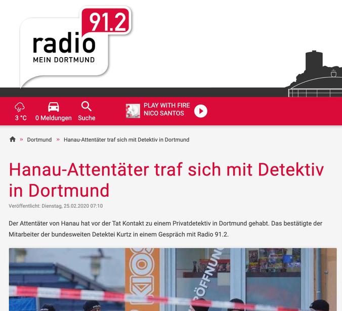 Hanau-Attentäter; Kurtz Detektei Dortmund, Detektiv Dortmund, Privatdetektiv Dortmund