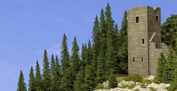 Große Bäume wirken viel vorbildgetreuer
