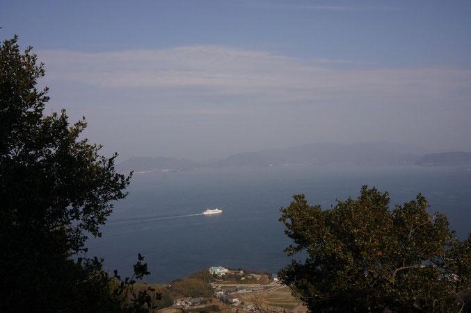 遠見山ボルダーから見える瀬戸内海