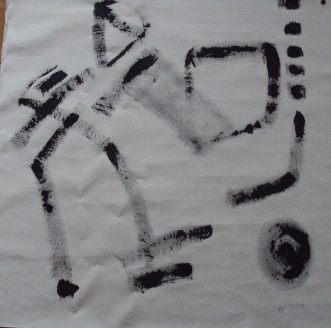 Figure it Out.05  Acryl auf Storenstoff  100x100