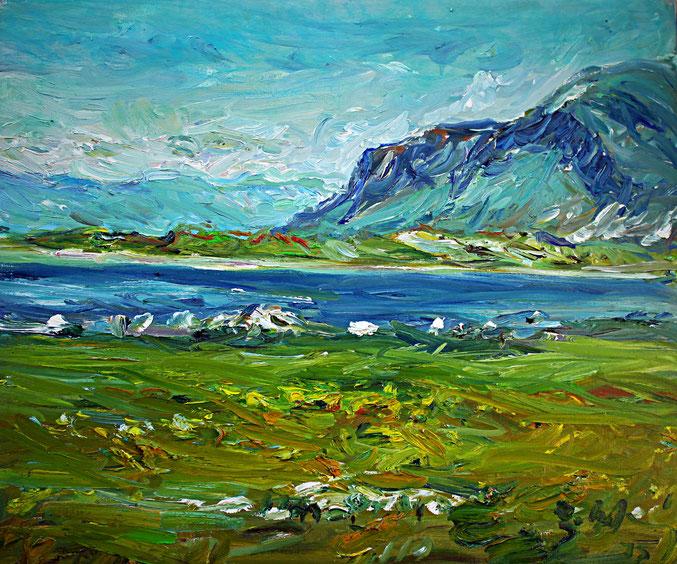Landschaft bei Runde   2012, Öl auf LW, 46 cm x 55 cm