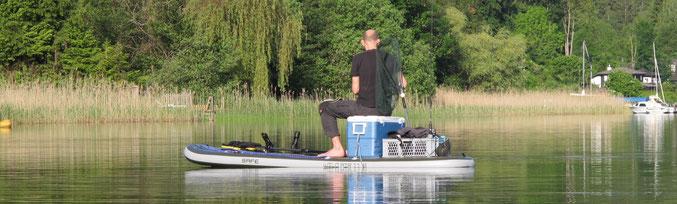 SUP fischen, SUP angeln, Angeln vom SUP, SUP fishing