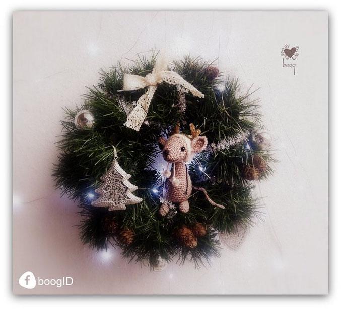 amigurumi egér karácsonyi horgolás minta