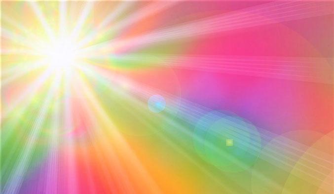 Lichtstrahlen, leuchtend, Farben, positive Ausstrahlung