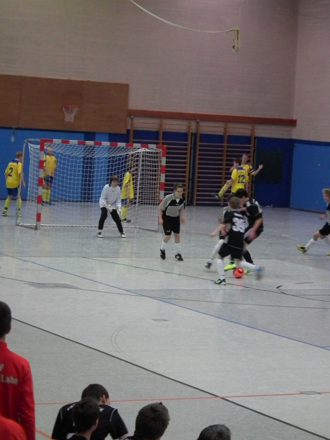 Die C- Jugend des FSV- Schröck im Spiel gegen die JSG- Lohra