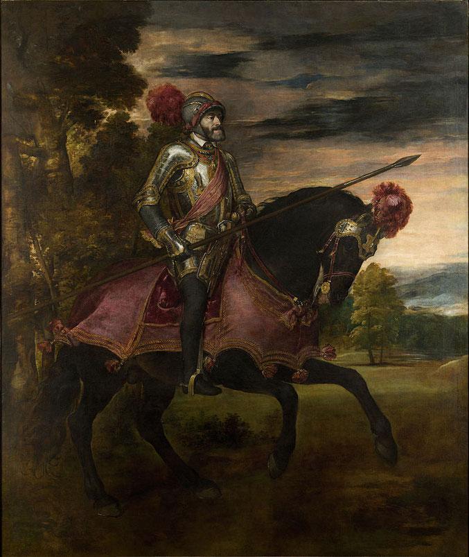 Конный портрет Карла V - Тициан