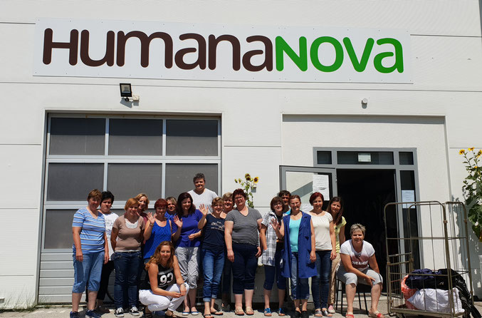 The employees of the workers cooperative Humana Nova from Cakovec/Croatia