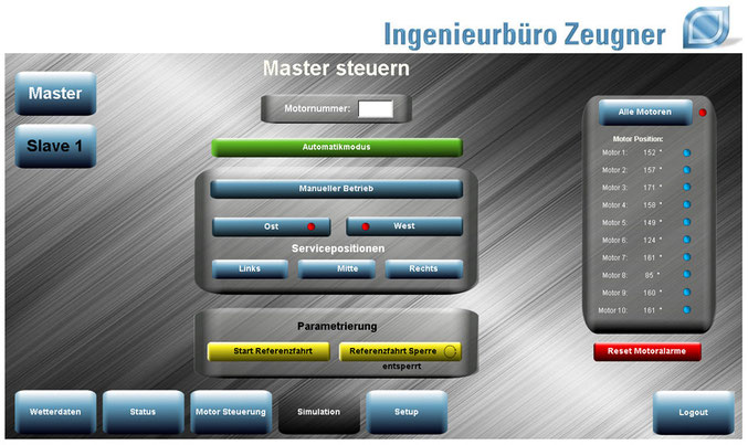 HMI PV-Trackingsystem: Motorsteuerung