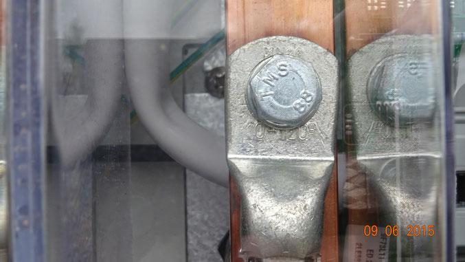 Kabelschuh für Leiterquerschnitt 120mm², nicht für Al-Kabel geeignet (siehe oben)