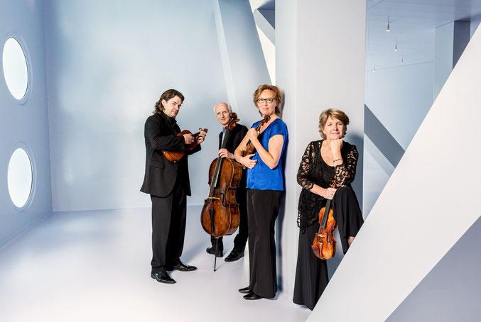 Das Utrecht String Quartet spielt am 7. Juni 2020 im kleinen Saal der Hamburger Elbphilharmonie
