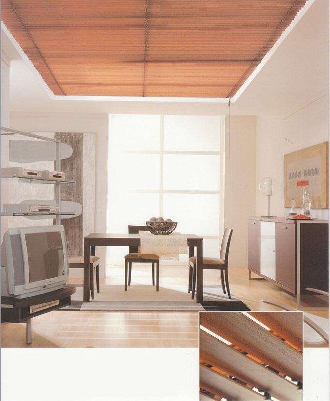 Holzlamellen für Innenbereiche und Aussenbereiche