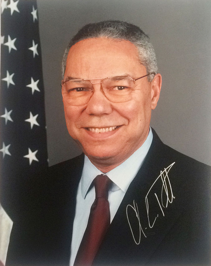 Autogramm Colin Powell Autograph