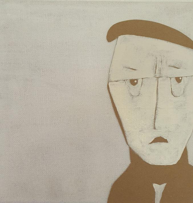 Cardboard Art Bild von einem Mann