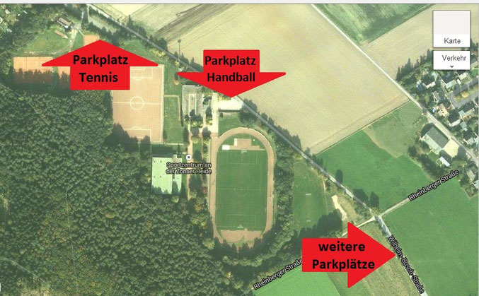Parksituation am Sportzentrum an der Zonser Heide