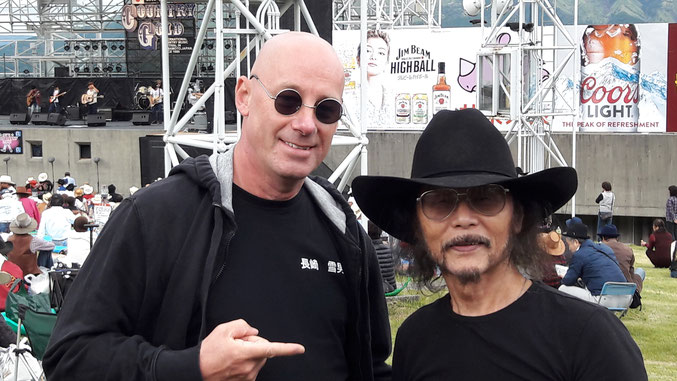 with the famost Country Star from Japan: Charlie Nagatani!! https://opry.com/artist/charlie-nagatani (Oct. 2016 - Kumamoto - Country Gold 2016)