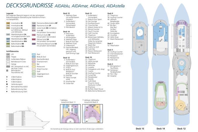 AIDAstella Decksplan