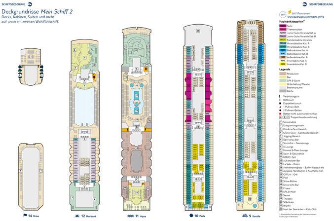Mein Schiff 2 Decksplan