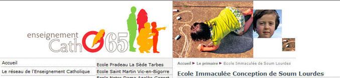 Fr Lourdes : Ecole Immaculée Conception de Soum