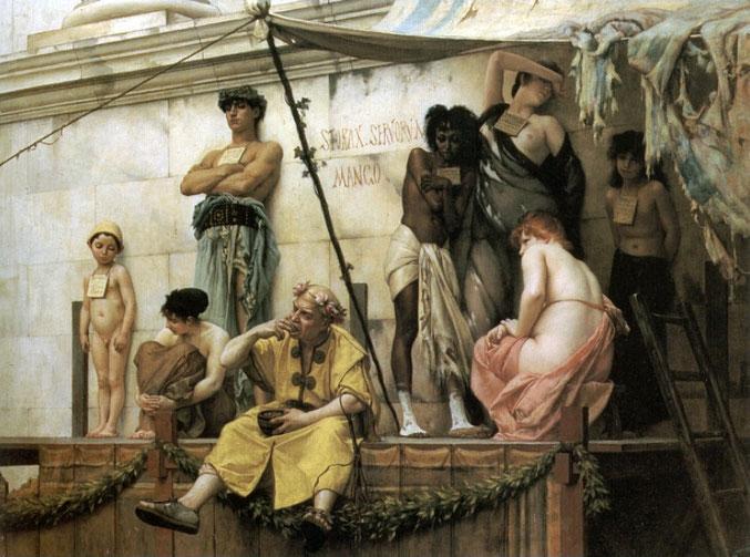 "Gustave Boulanger, ""Il mercato degli schiavi"" (1882)"