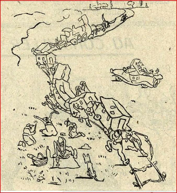 Dessin de Savignol paru dans le Cri de Toulouse en novembre 1920