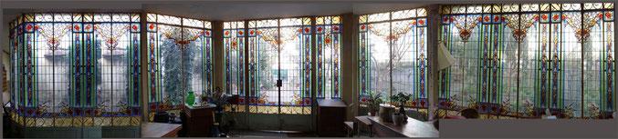 vitraux, veranda, rue Claire Pauilhac, quartier Chalets Toulouse