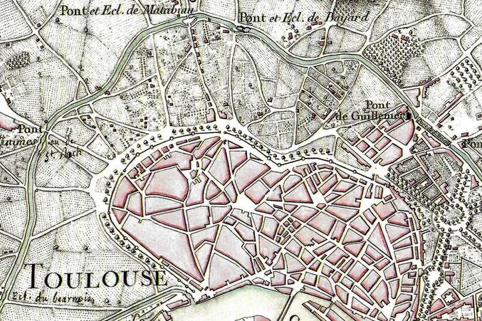 1773 - Carte du Canal - Garipuy, directeur général des travaux de la province du Languedoc - Chalmandrier graveur - VNF