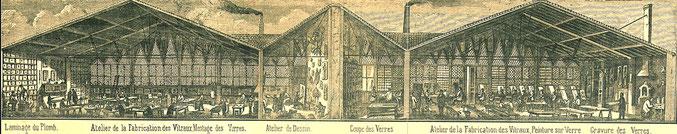 fabrique de vitraux quartier Chalets Toulouse