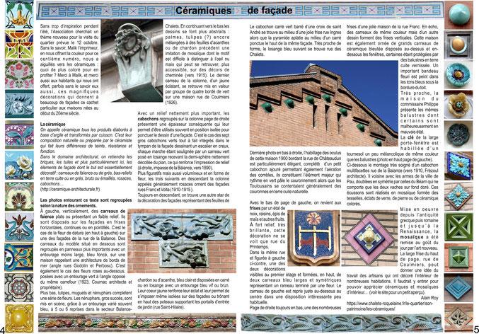 Extrait du n°100 de la Gazette des Chalets - Décembre 2019 - Double page pour fêter l'avènement de la couleur
