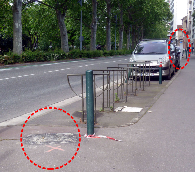 Déplacé de quelques mètres, l'horodateur n'entrave plus la visibilité des conducteurs à ce carrefour difficile