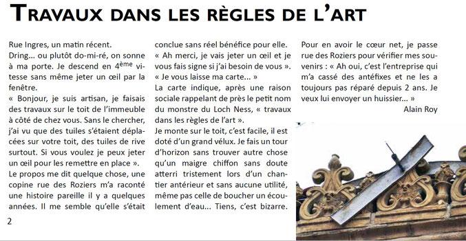 Extrait de La Gazette des Chalets n°99, octobre 2019