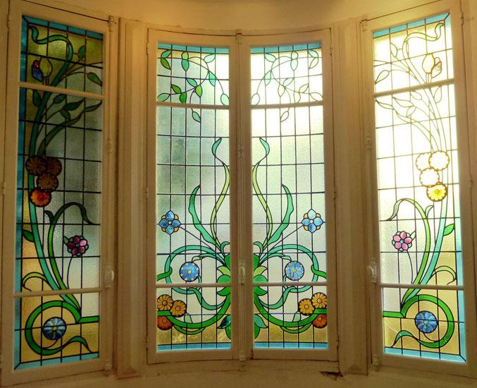 vitraux, rue d'Orléans, quartier Chalets Toulouse