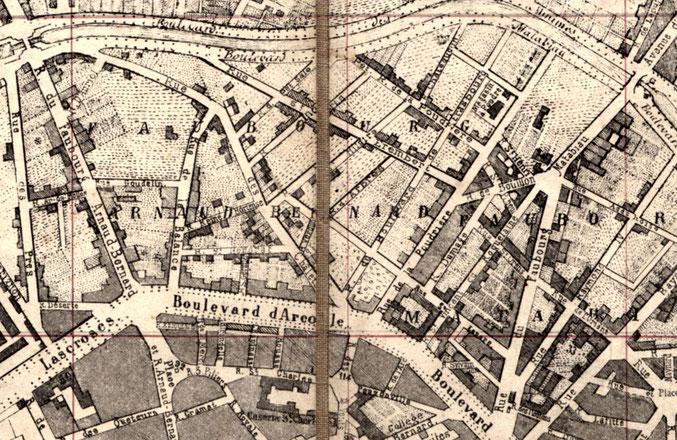 Plan de Toulouse - vendu en 1880 - (nombreuses erreurs dans le quartier des Chalets)