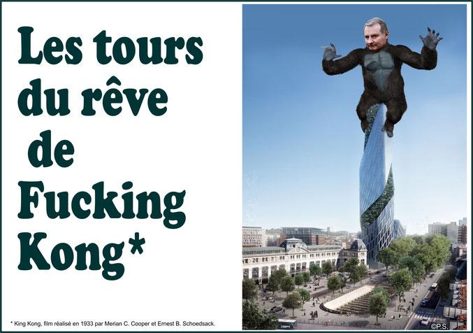 Affichette inspirée du film King Kong