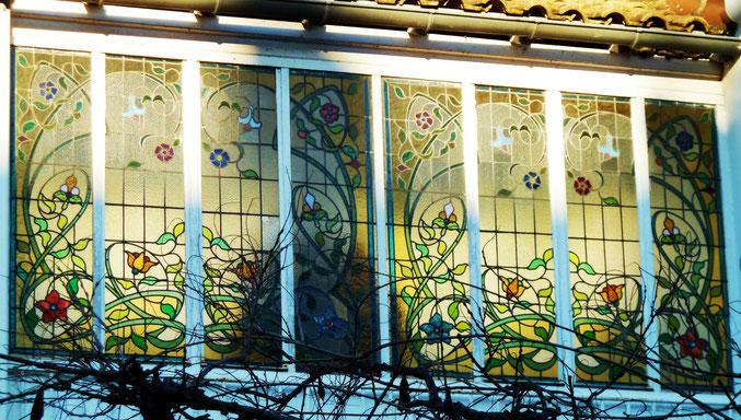 vitraux, rue Christophe Colomb, quartier Chalets Toulouse