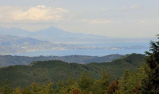 太平山より大山、真鶴半島