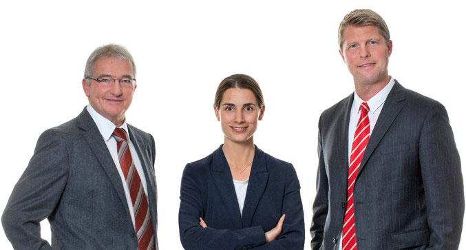 Fachanwalt für Arbeitsrecht Horst Thon, Fachanwälting für Arbeitsrecht Christine Bernard und Fachanwalt für Arbeitsrecht Volker Sedlacek