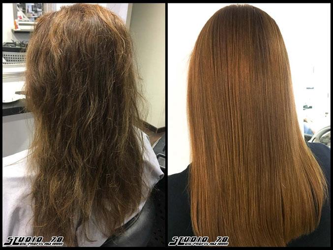 Kerasilk Keratin permanente Haarglättung vorher nachher