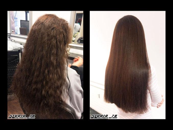 Kerasilk Keratin Haarglättung vorher nachher
