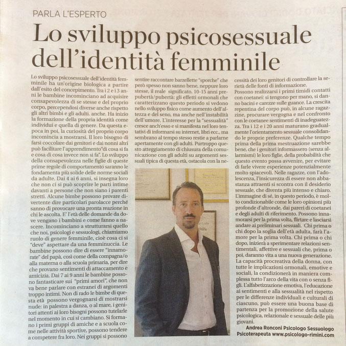 Sviluppo Psicosessuale dell'identità Femminile, Psicologo Sessuologo  Rimini-Riccione