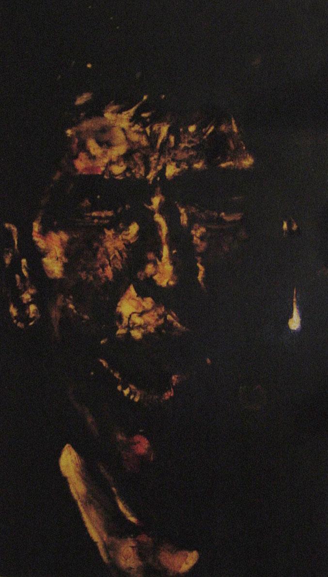 """""""Ah brutto boia lurido!""""  (2009) olio su legno, cm (55,1 x 32,9)"""
