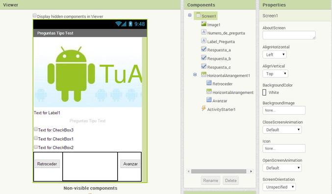 App Android Preguntas y respuestas con App Inventor