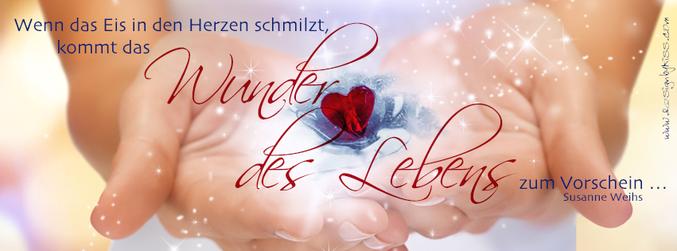 Wenn das Eis in den Herzen schmilzt, kommt das Wunder des Lebens zum Vorschein. - Susanne Weihs