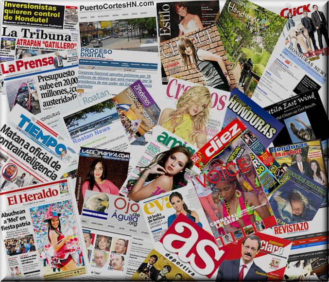 Periodicos y Revistas de Honduras
