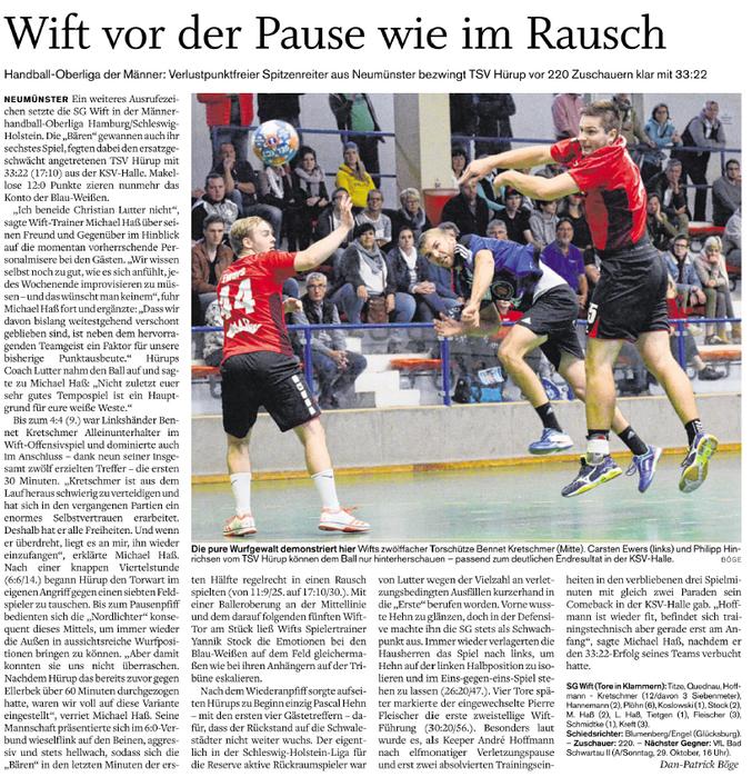 6. Spieltag Oberliga 2017/2018