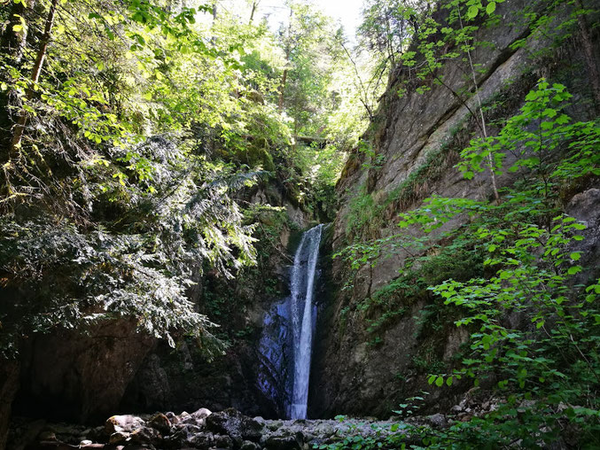 Der Wasserfall am Schmugglerweg