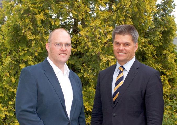 CDU Samtgemeinde-Vorsitzender Markus Grube (links) und stellv. Fraktionsvorsitzenden der niedersächsischen CDU Fraktion Jörg Hillmer, MdL (rechts)