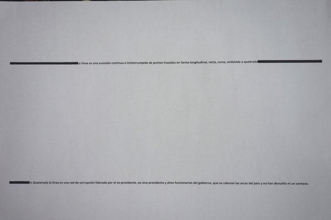 La nueva semantica guatemalteca, Druck auf Papier