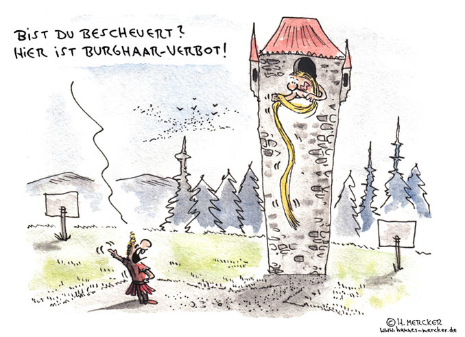 Cartoon von H. Mercker zur Diskussion ums Burkaverbot.